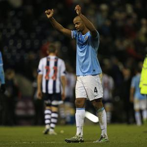 Manchester City's Vincent Kompany was delighted to be back in action after missing the last two months through injury