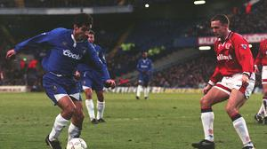 Gavin Peacock, left, in his playing pomp at Chelsea (Neil Munns/PA)