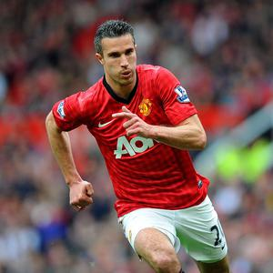 Robin van Persie, pictured, has denied claims he is unhappy with David Moyes' methods