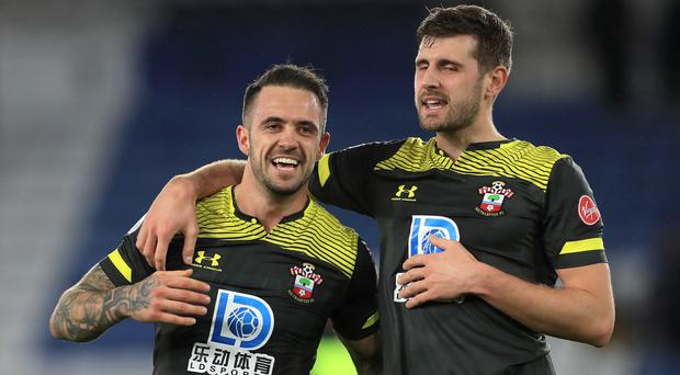 Danny Ings, left, scored again as Southampton beat Leicester (Mike Egerton/PA)
