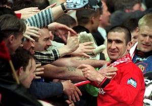 Eric Cantona was the focal point for Manchester United's success in the 1990s (Sean Dempsey/PA)