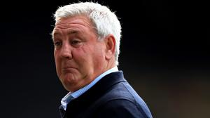 Newcastle manager Steve Bruce was unhappy with the award of Watford's two penalties (Mike Egerton/NMC Pool/PA).