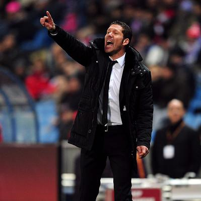 Diego Simeone, pictured, does not know whether Diego Costa will remain with Atletico Madrid beyond the end of this season