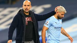 Pep Guardiola said Sergio Aguero must show he is worthy of a new Manchester City contract (Alex Livesey/PA)