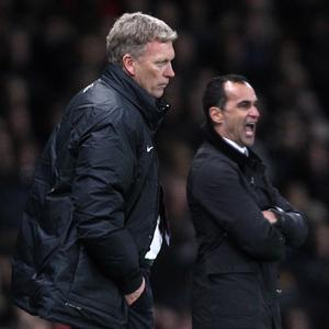 Roberto Martinez, right, believes Everton fans will strike the right balance when David Moyes returns to Goodison Park with Manchester United