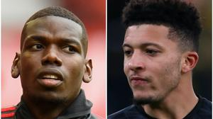 Paul Pogba and Jadon Sancho feature in Wednesday's rumours (Peter Powell/NMC Pool/ Mike Egerton/PA)