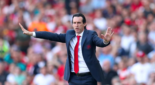 Arsenal manager Unai Emery, pictured, could be about to add to his attacking options with the club interested in Nicolas Pepe (Bradley Collyer/PA)
