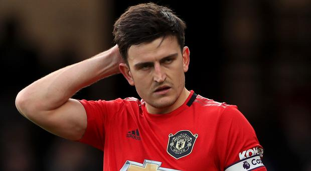 Manchester United defender Harry Maguire had picked up what was thought to be a foot problem against Wolves (Mike Egerton/PA)