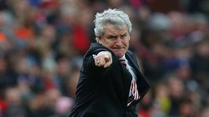 Mark Hughes was unhappy with some refereeing decisions against Manchester United