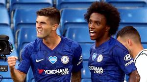 Christian Pulisic and Willian scored Chelsea's goals (Julian Finney/NMC Pool)