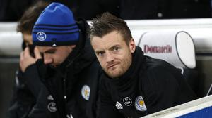 Jamie Vardy will have to wait for his 100th Premier League goal (Gareth Fuller/PA)