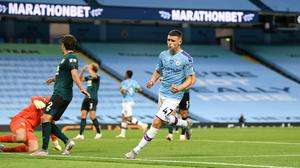 Phil Foden shone as Manchester City thrashed Burnley (Michael Regan/PA)
