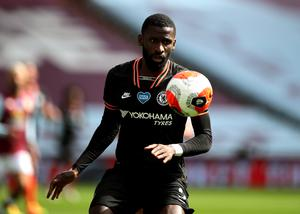 Toni Rudiger, pictured, has admitted he has been trying to convince Kai Havertz to join Chelsea (Molly Darlington/NMC Pool)