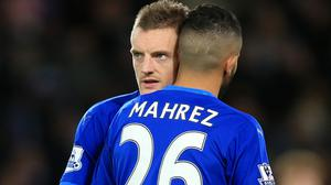 Jamie Vardy and Riyad Mahrez have been linked with moves away from Leicester