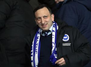 Brighton chairman Tony Bloom faces a significant bill if play does not resume soon (Andrew Matthews/PA)