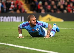 Kyle Walker has attracted some negative headlines during the coronavirus pandemic (Peter Byrne/PA)