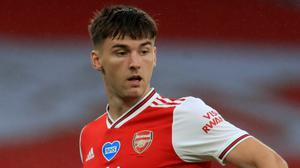 Kieran Tierney moved to Arsenal from Celtic last summer (Adam Davy/NMC Pool)
