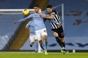 Federico Fernandez (right) returned to the Magpies side (Jason Cairnduff/PA)