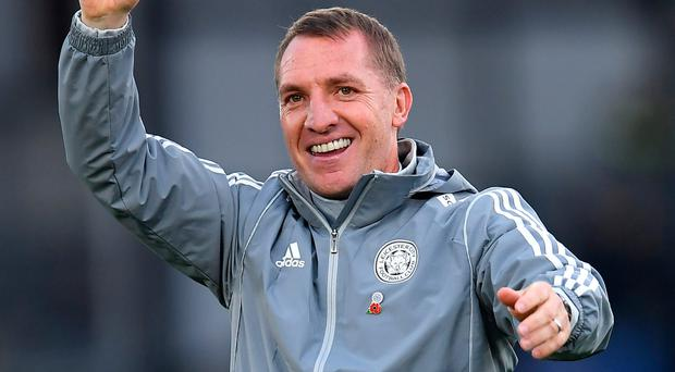 All smiles: Brendan Rodgers' side won again