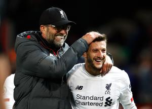 Klopp rates Lallana as one of the most important players he has worked with at Anfield (Martin Rickett/PA)