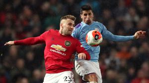 Luke Shaw felt Manchester United showed more desire to win Sunday's derby against Manchester City (Nick Potts/PA)