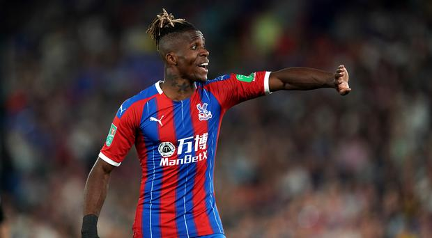 Wilfried Zaha registered his first assist of the season in Crystal Palace's 2-0 win over Norwich (John Walton/PA).