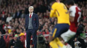 Arsene Wenger took charge of his final European home game with Arsenal on April 26, 2018 (Nick Potts/PA)