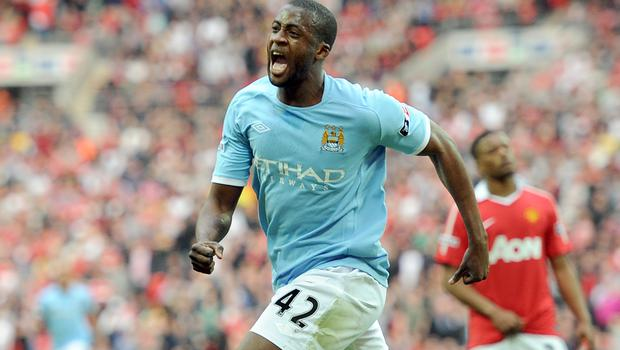 Toure scored the only goal when City beat United in the 2011 FA Cup semi-finals