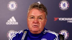 """Guus Hiddink: """"We all like to look forward and to the top of the table, but also don't be unrealistic - you're six points off the line of relegation. That's also a fact."""""""