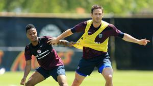 Frank Lampard, right, has responded to Raheem Sterling, left, who gave his views on the battle for equality in football (Mike Egerton/PA)