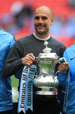 Guardiola guided City to FA Cup success last year (Mike Egerton/PA)