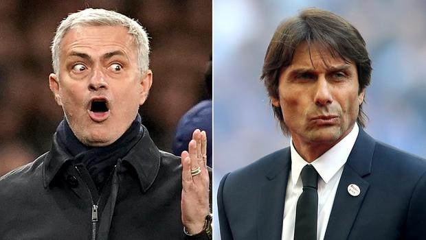 Jose Mourinho, left, is not impressed with comments made by Antonio Conte, right (PA)
