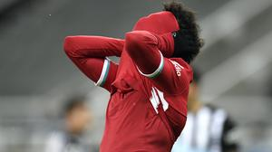 Mohamed Salah missed two good chances for Liverpool (Peter Powell/PA)