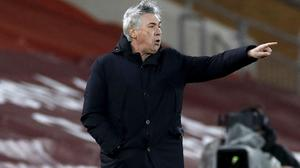 Everton manager Carlo Ancelotti wants his players to push on for Champions League qualification (Phil Noble/PA)