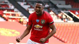 Anthony Martial netted a hat-trick on Wednesday (Michael Steele/NMC Pool)
