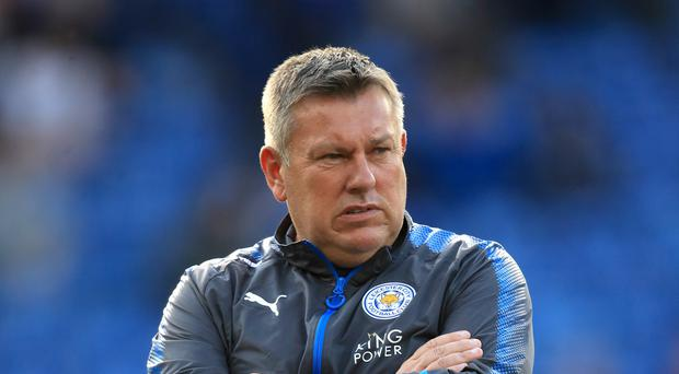 "Leicester City manager Craig Shakespeare during the Premier League match at King Power Stadium, Leicester. PRESS ASSOCIATION Photo. Picture date: Saturday September 23, 2017. See PA story SOCCER Leicester. Photo credit should read: Mike Egerton/PA Wire. RESTRICTIONS: EDITORIAL USE ONLY No use with unauthorised audio, video, data, fixture lists, club/league logos or ""live"" services. Online in-match use limited to 75 images, no video emulation. No use in betting, games or single club/league/player publications."