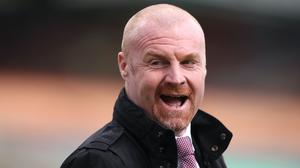 Sean Dyche's Burnley have won just one of their nine Premier League fixtures this season (Alex Pantling/PA)