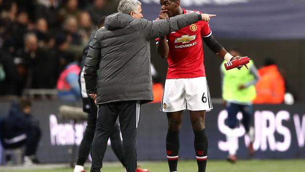 Jose Mourinho and Paul Pogba clashed towards the end of their time together at Old Trafford (John Walton/PA)