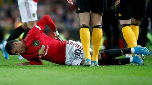 Marcus Rashford has been out since January with a back complaint (Martin Rickett/PA)