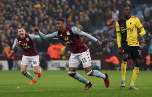 A stoppage-time winner for Aston Villa over Watford in January proved crucial (David Davies/PA)