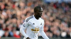 Modou Barrow, pictured, has returned to Swansea following Nathan Dyer's season-long loan switch to Leicester