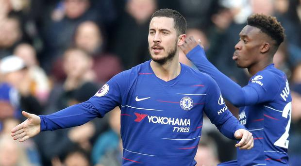 Callum Hudson-Odoi said he watched Eden Hazard's brilliant goal against West Ham with his 'mouth wide open' (Adam Davy/PA)