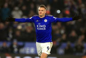 Jamie Vardy's last goal came in Leicester's 4-0 win against Aston Villa on March 9 prior to the lockdown (Mike Egerton/PA)