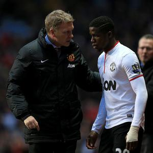 Wilfried Zaha, right, came on as a substitute in the win over Aston Villa