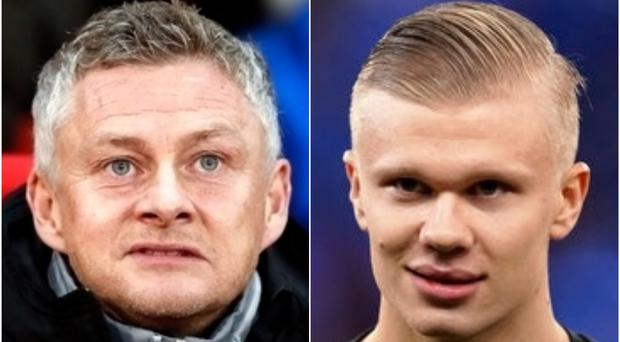 Manchester United manager Ole Gunnar Solskjaer has played down speculation surrounding Erling Haaland (PA)