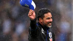 David Wagner celebrates last week's win against Manchester United