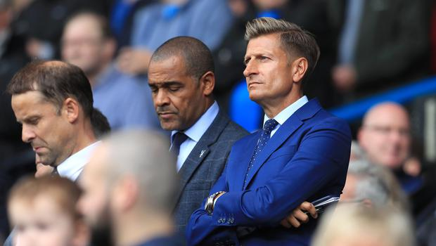 Crystal Palace chairman Steve Parish (right) is in constant discussions with manager Roy Hodgson over targets for the winter transfer window (Mike Egerton/PA)