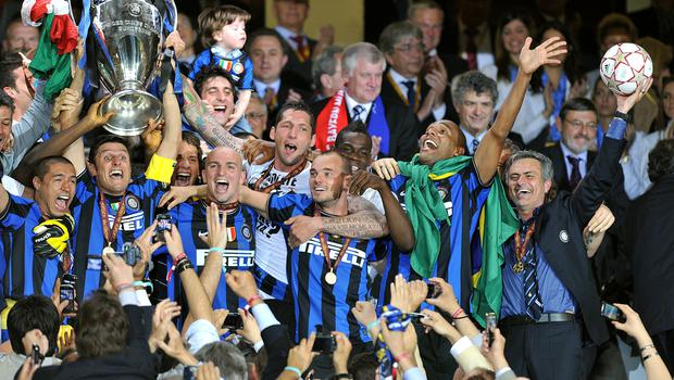 Mourinho, right, won the Champions League with Inter Milan (Martin Rickett/PA)