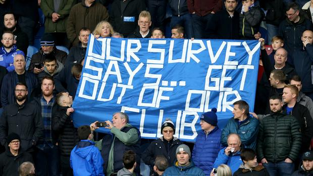 Some Everton fans have grown frustrated with Sam Allardyce