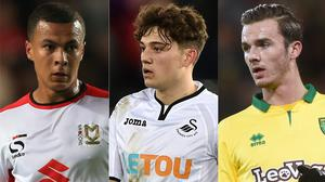 Dele Alli, Daniel James and James Maddison have made the moves up from the Football League to the Premier League (Nick Potts/Joe Giddens/Simon Galloway/PA)
